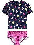 Simple Joys by Carter's Girls' Toddler 2-Piece Rashguard Set, Popsicals, 5T