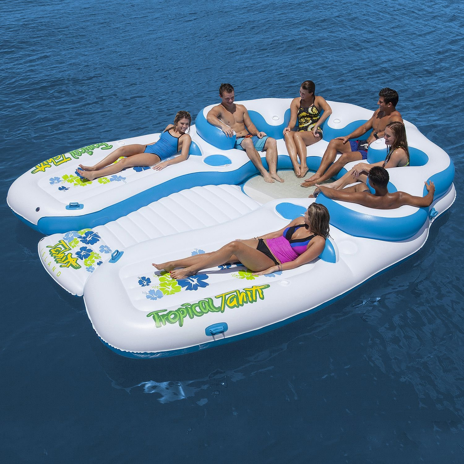 Tropical Tahiti Floating Island 7 Person Inflatable Raft by Tropical Tahiti