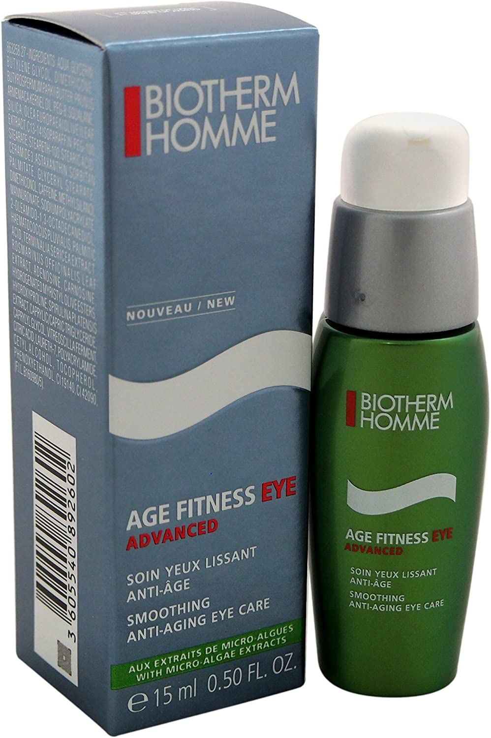 Biotherm Homme Age Fitness Advanced Smoothing Anti-Aging Eye Care, 0.5 Ounce