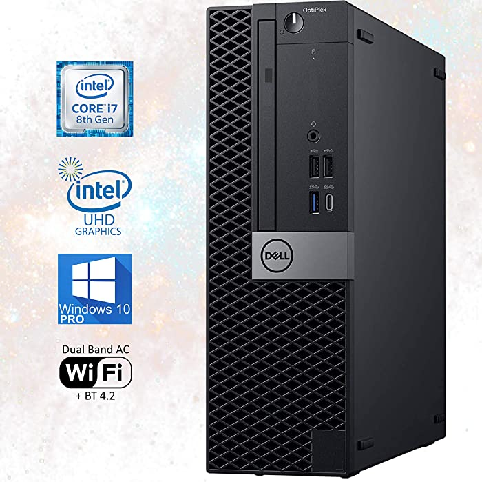Dell OptiPlex 7070 SFF Desktop Computer – 8th Gen Intel Core i7-8700 4K Monitor Support DisplayPort, 16GB RAM, 512GB NVMe SSD, DVD, HDMI, AC Wi-Fi, Bluetooth - Windows 10 Pro