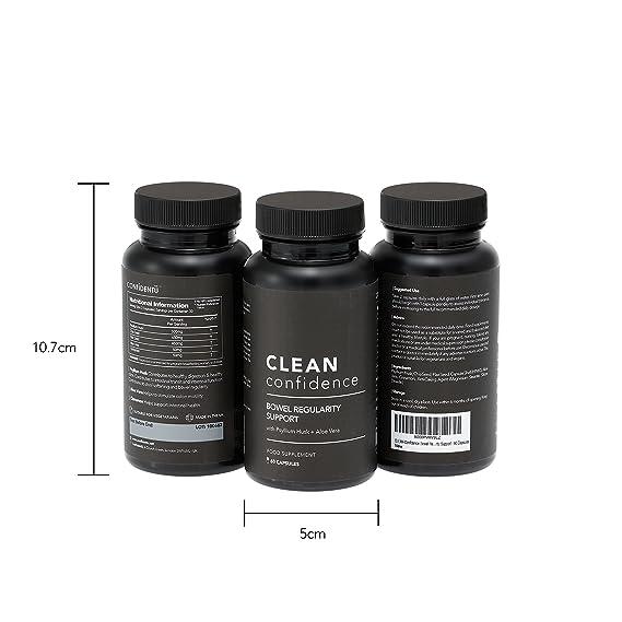 CLEAN Confidence Apoyo de la regularidad del intestino - 60 cápsulas - Suministro de un mes por ConfidentU: Amazon.es: Salud y cuidado personal