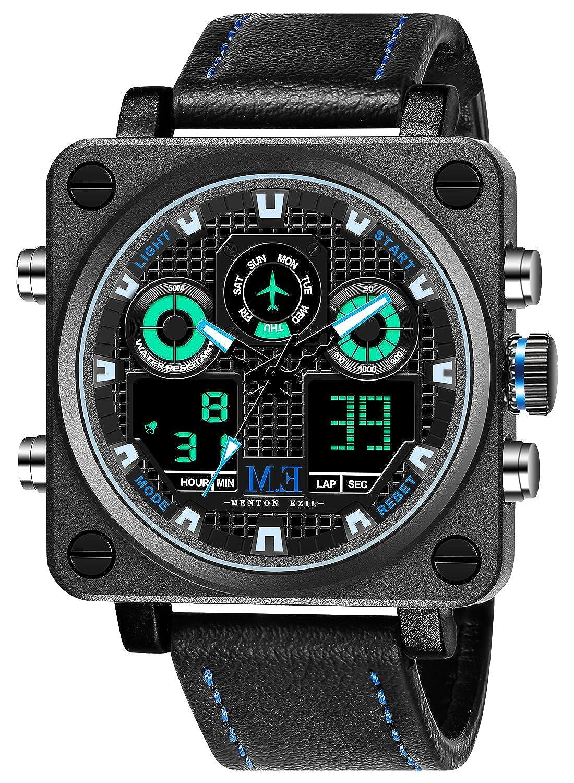 Amazon Com Menton Ezil Mens Tactical Watch Unique Sport Digital