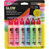 Tulip 29025 Dimensional Glow Fabric Paint, 6-Pack