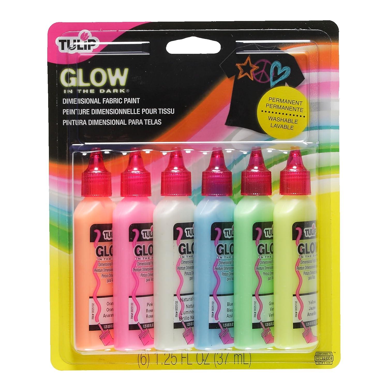 Tulip Glow Botes de pintura para tejidos relieve brilla la oscuridad unidades
