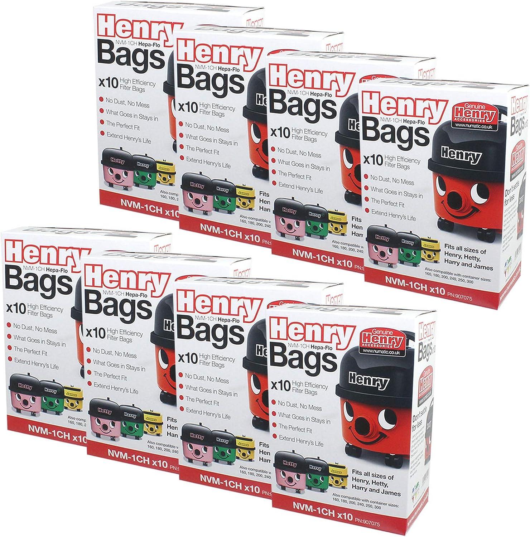 Bolsas de polvo Numatic Henry 604015 NVM-1CH de tejido HepaFlo para aspiradora (paquete de 80): Amazon.es: Hogar