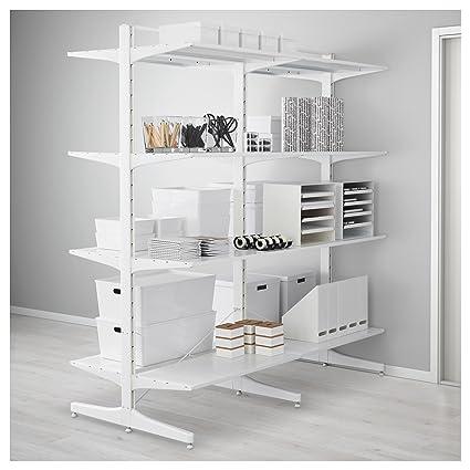 IKEA Algot - Mensaje / pie / estantes de metal blanco ...