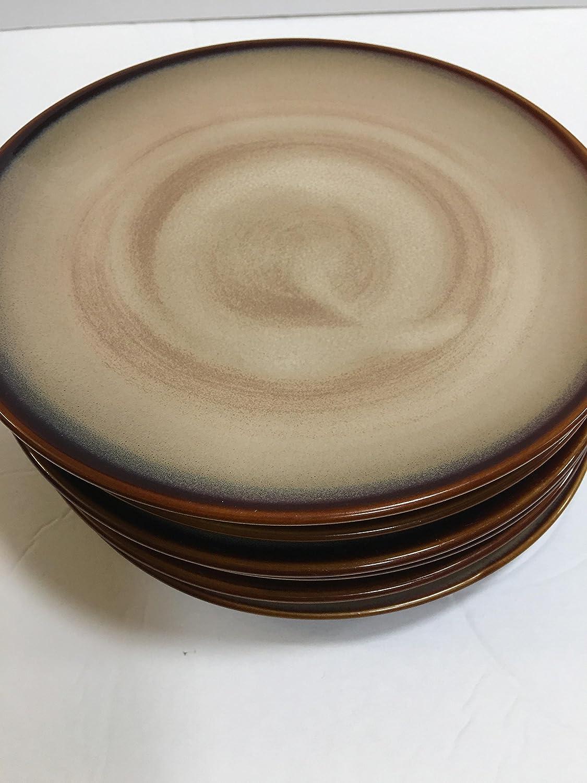 & Amazon.com | Sango Nova-Brown Salad Plate Fine China: Salad Plates