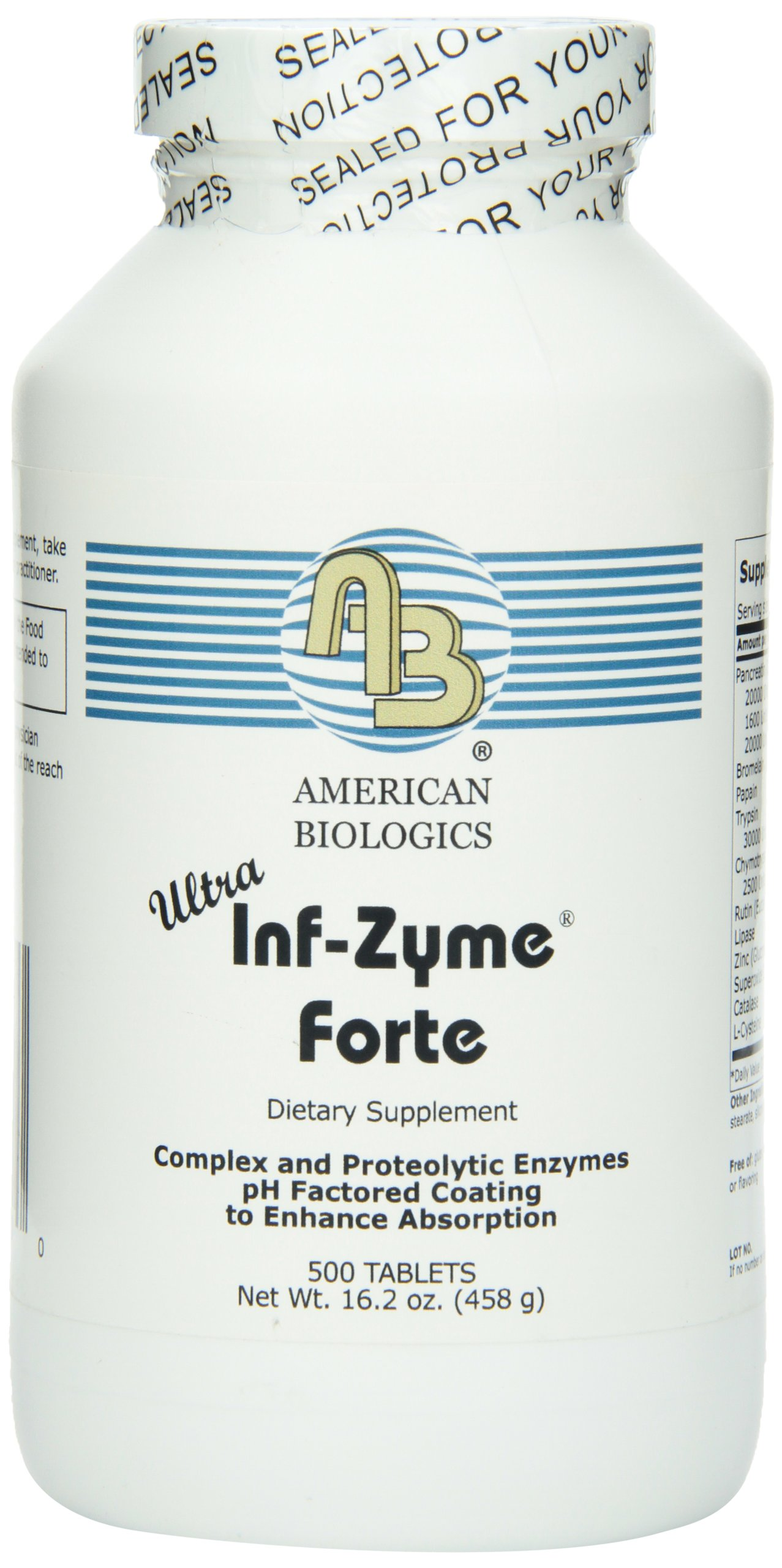 American Biologics Inf-Zyme Tablets, 500 Count