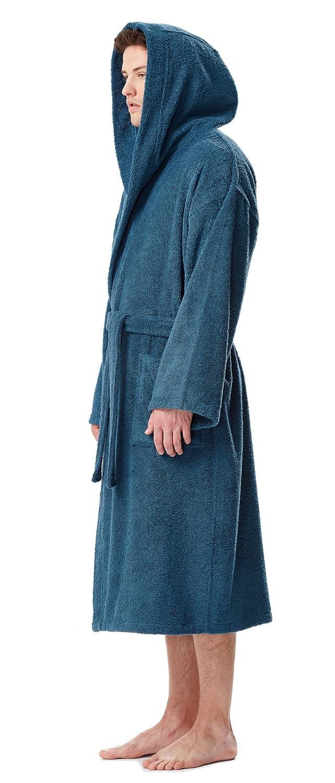 Arus Mens Classic Hooded Bathrobe Turkish Cotton Terry Cloth Robe Arus  Marketing 4406436a3