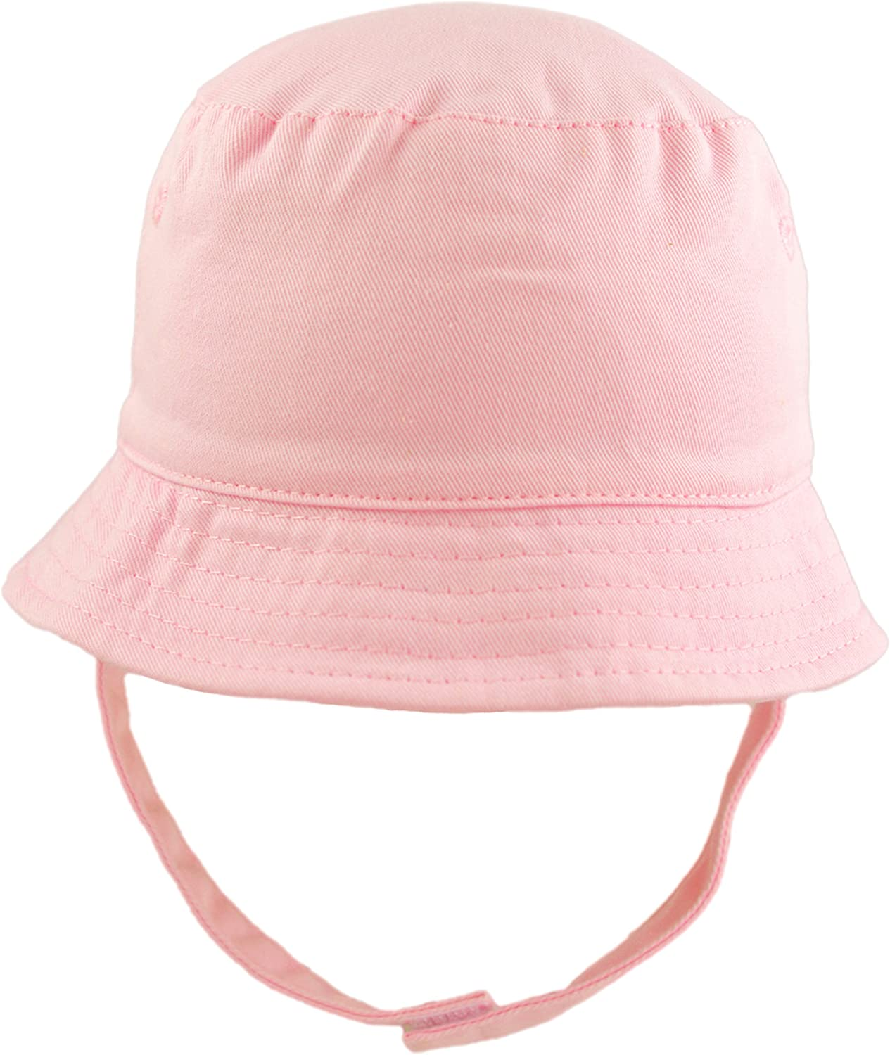 Pesci Baby Girls Sun Hat Summer Bucket Hats with Chin Strap Pink, 12-18 Months