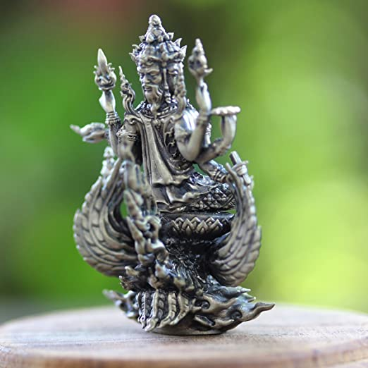 Naga Eye Blue Gems Ball Mini Holy Protect Luck Wealth Pendant Thai Magic Amulet