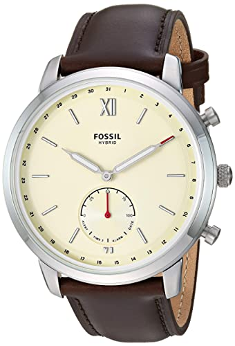 Amazon.com: Fossil Mens Hybrid Smartwatch Stainless Steel ...