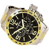 TW Steel CB44Herren Kantine zweifarbigen Armband Band Schwarz Zifferblatt Armbanduhr