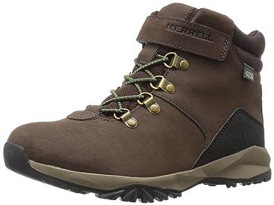Merrell ML-Alpine Casual Boot WTRPF, Chaussures de Randonnée Hautes Garçon, Marron (Brown), 29 EU