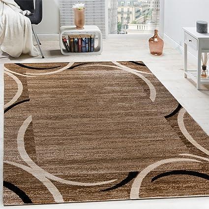 paco home tappeto per salotto  Paco Home Tappeto per Salotto Tappeto di Design Bordo mélange Beige ...
