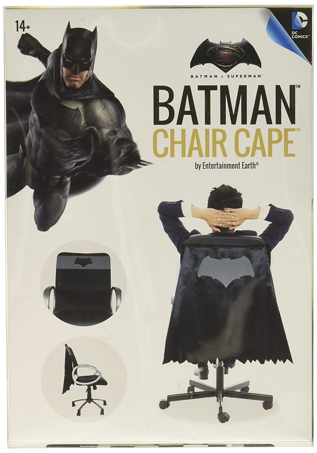 Amazon.com: Batman v Superman: Dawn of Justice Batman Chair Cape ...