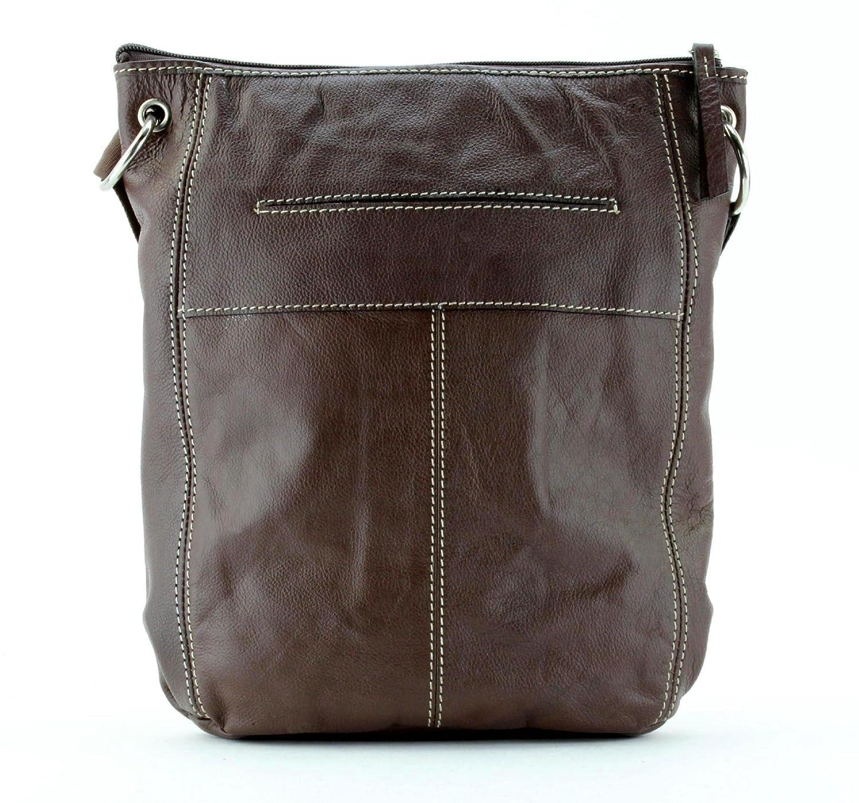 Amazon.com: Piel cartera grande Multi Pocket Crossbody Bolsa ...
