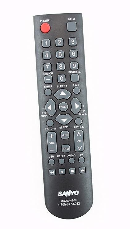 Original Sanyo RC200NS00 TV Remote Control Supplied with: DP24E14M,  DP32D53, DP32D53M, DP40D64, DP50E44M, FVD4064, FVM4012