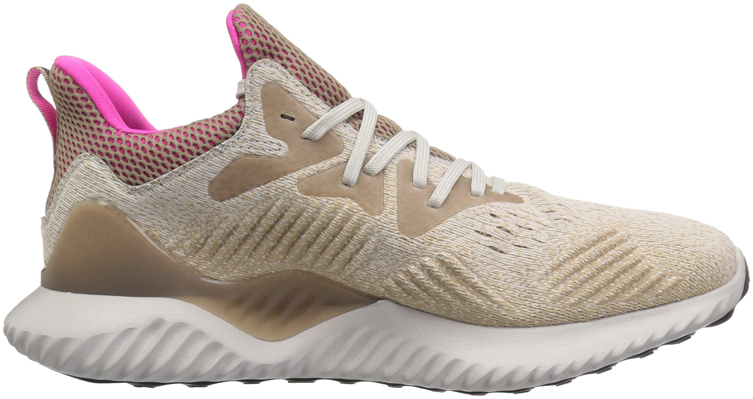 adidas Men's Alphabounce Beyond Running Shoe, Chalk Pearl/Shock Pink/Trace Khaki, 7.5 M US by adidas (Image #7)