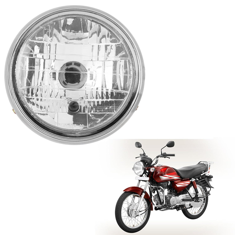 Autofy Round Headlight Projector Headlamp For Hero Honda CD Dawn (45W,  White Light, Single Unit)