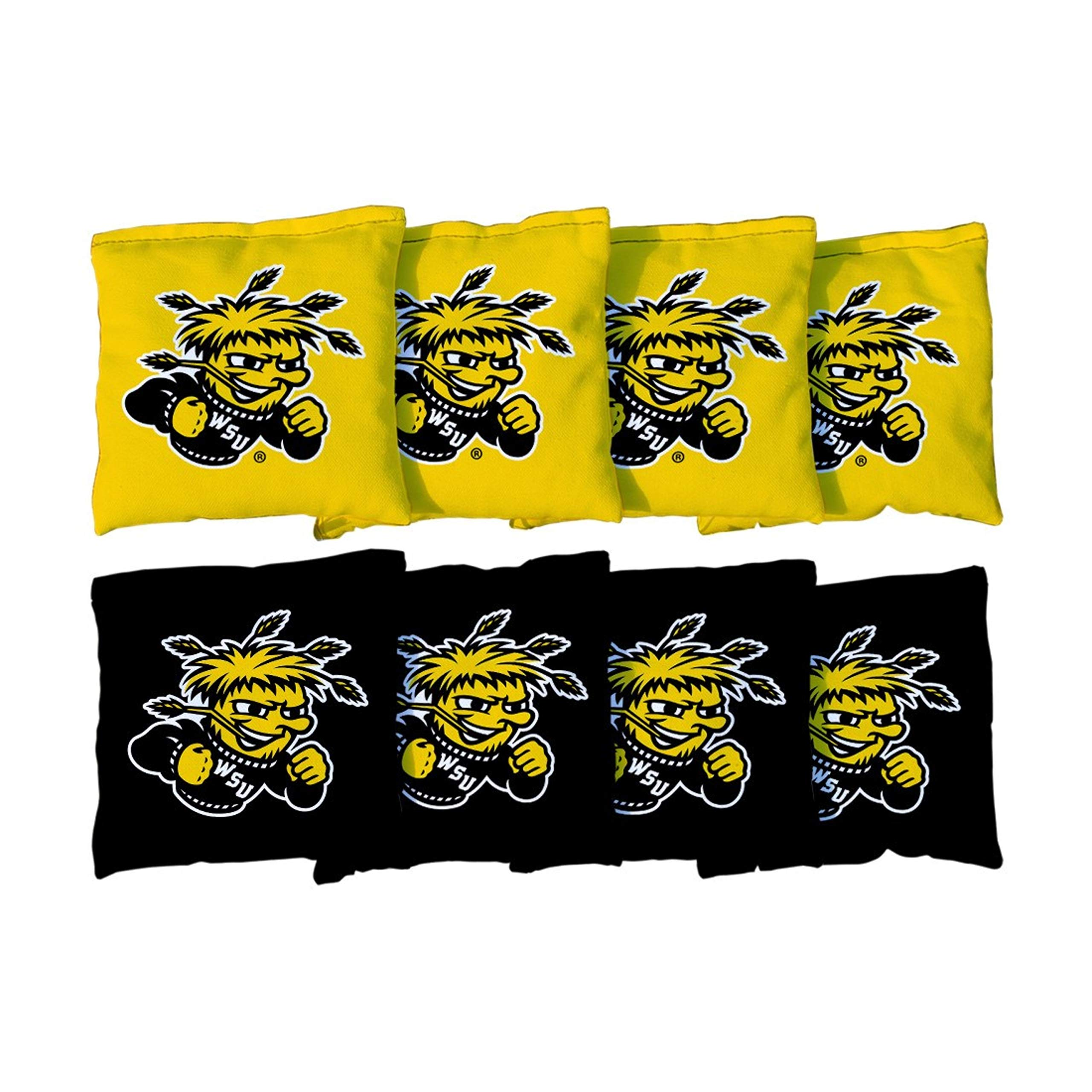 Victory Tailgate NCAA Regulation Cornhole Game Bag Set (8 Bags Included, Corn-Filled) - Wichita State University Shockers