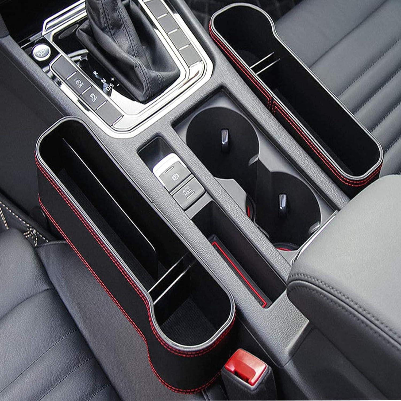 CLTYQ Car Seat Filler Gap PU-Leder-Auto-Sitzseitentasche Space Storage Box Cup Flaschenhalter M/ünzsammler