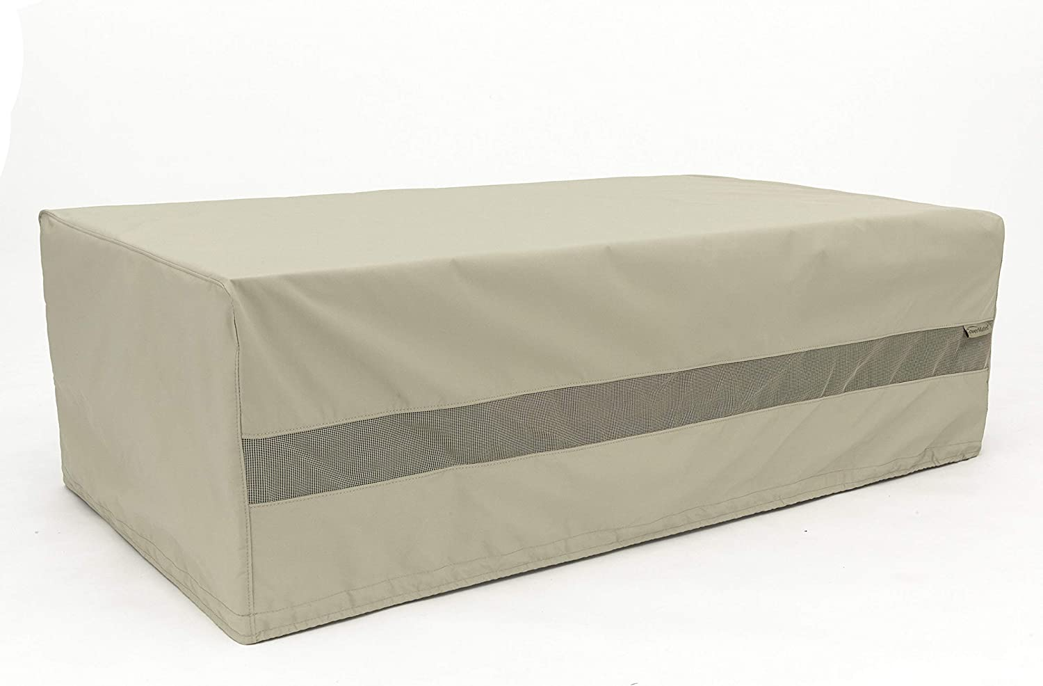 300D Stock-Dyed Polyester Elite 3 YR Warranty Charcoal Locking Drawcord Weather Resistant Deck Box Cover Double Stitched Seams Covermates 26W x 26D x 25H