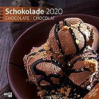 Schokolade 2020, Wandkalender / Broschürenkalender im Hochformat (aufgeklappt 30x60 cm) - Geschenk-Kalender mit Monatskalendarium zum Eintragen