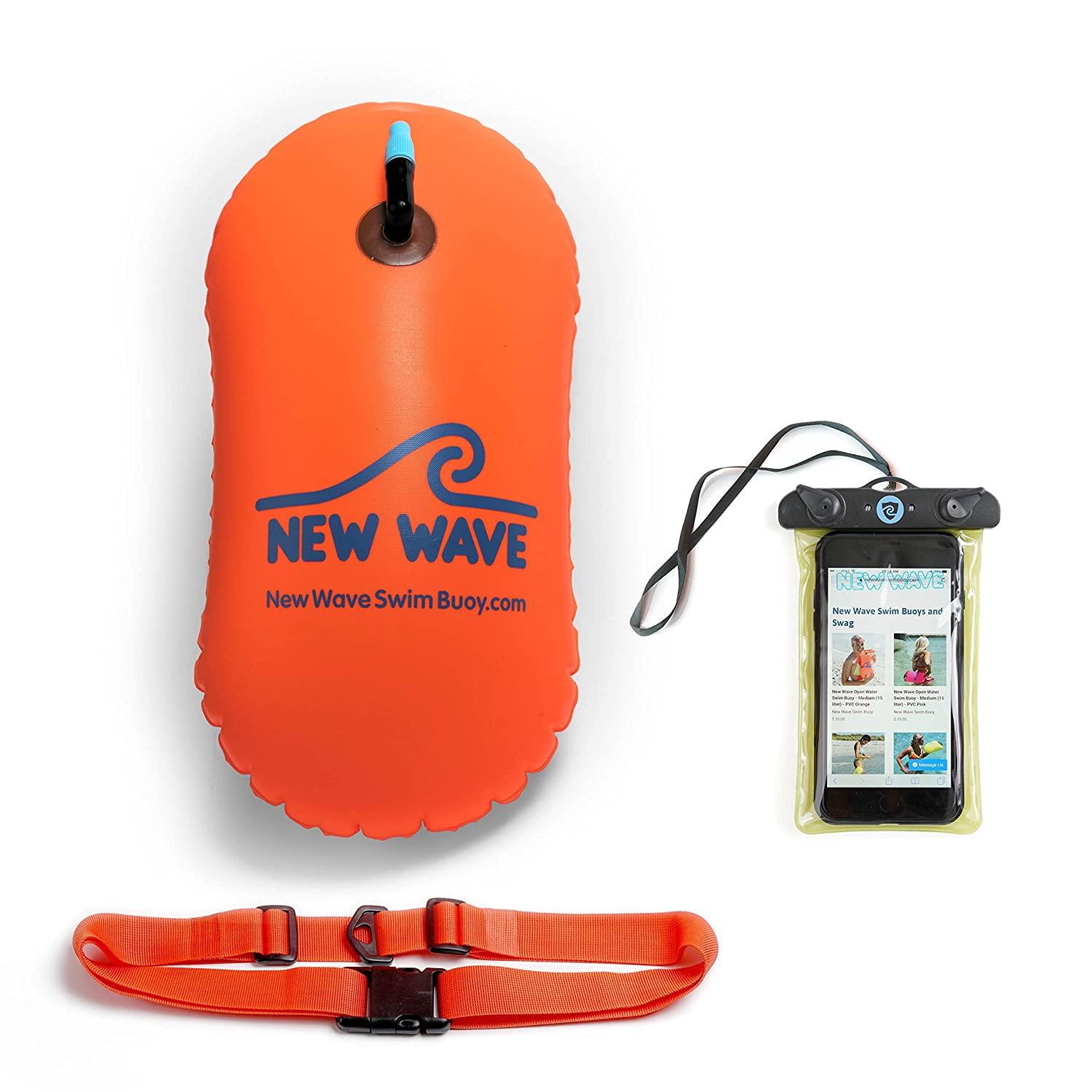 New Wave Swim Bubble for Open Water Swimmers and Triathletes - Be Bright, Be Seen & Be Safer with New Wave While Swimming Outdoors with This Safety Swim Buoy Tow Float New Wave Swim Buoy NWSB-Bubble-Green