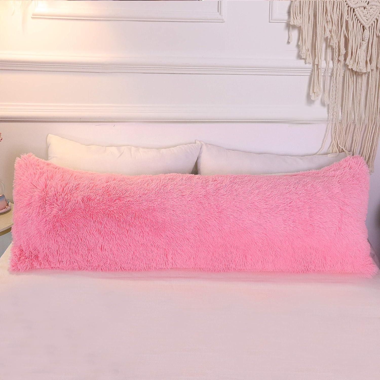 Amazon Com Sleepwish Sherpa Body Pillow Cover With Zipper Closure
