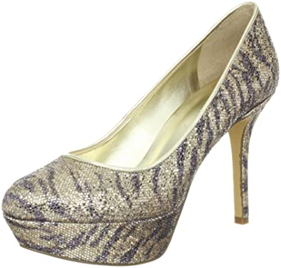 Nine West Women's Mendoza Platform Pump Gold Size 5.5