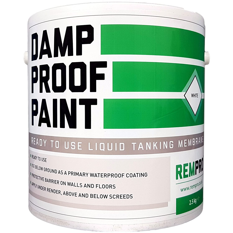 2.5kg Rempro Damp Proof Paint White - Liquid DPM Waterproofing Damp Proof Membrane Paint Seahaven Ltd REMDPP2.5W