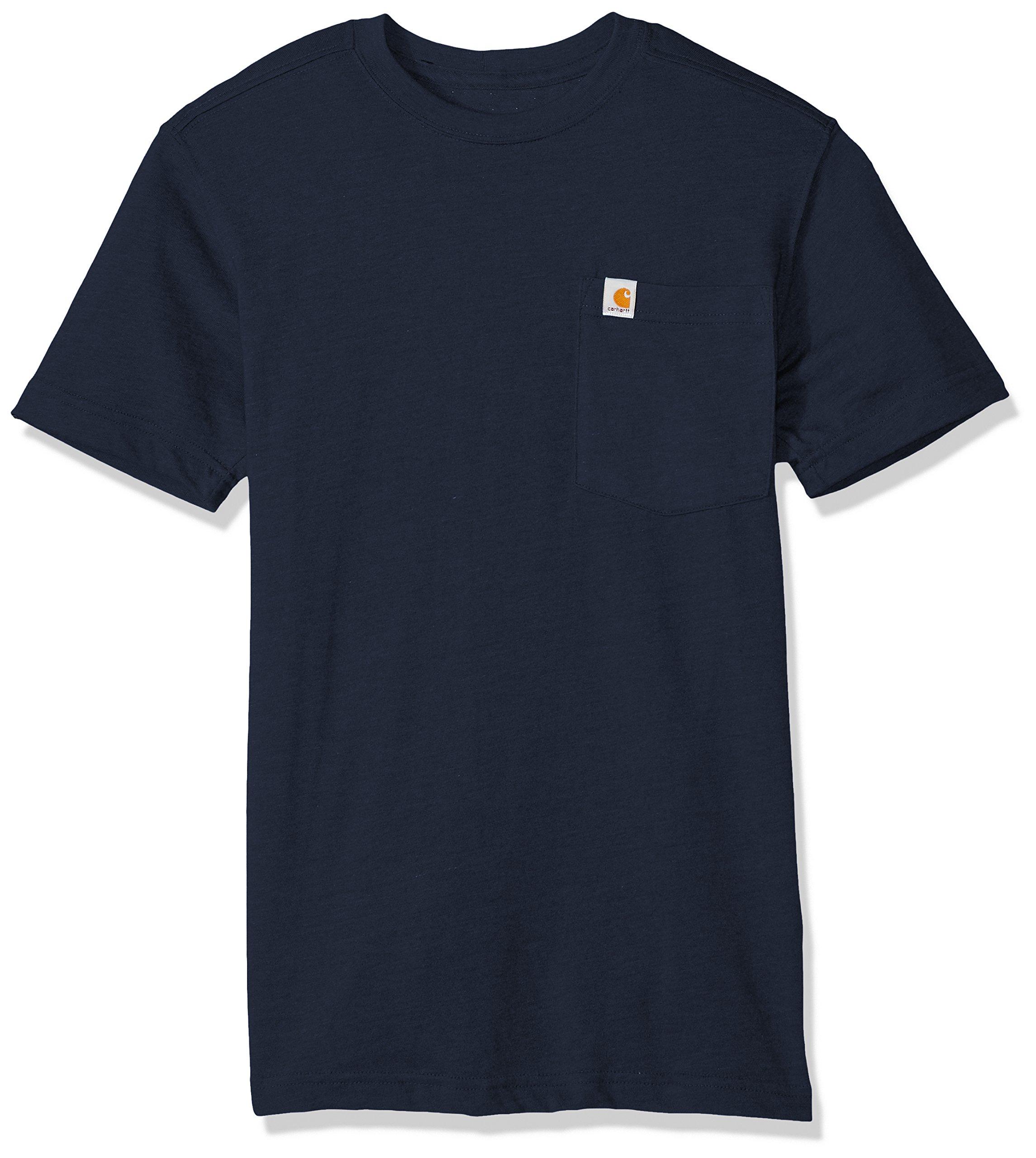 Carhartt Men's Tall Size Maddock Pocket Short Sleeve T-Shirt, Navy, 3XL