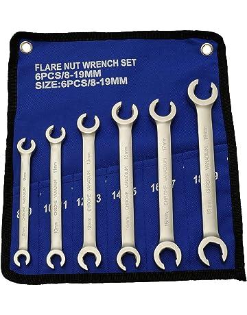 JUEGO de llaves para tubos de freno I de 6 piezas I llave anular abierta I