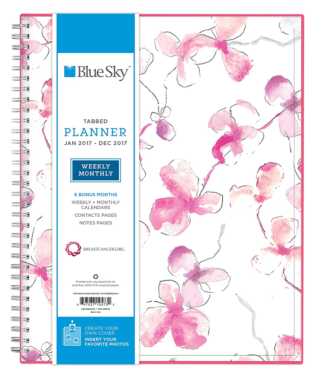 Amazon.com : Blue Sky 2017 Weekly & Monthly Planner, Wire-O ...
