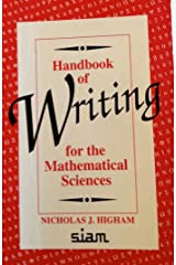 Handbook of Writing for the Mathematical Sciences Paperback