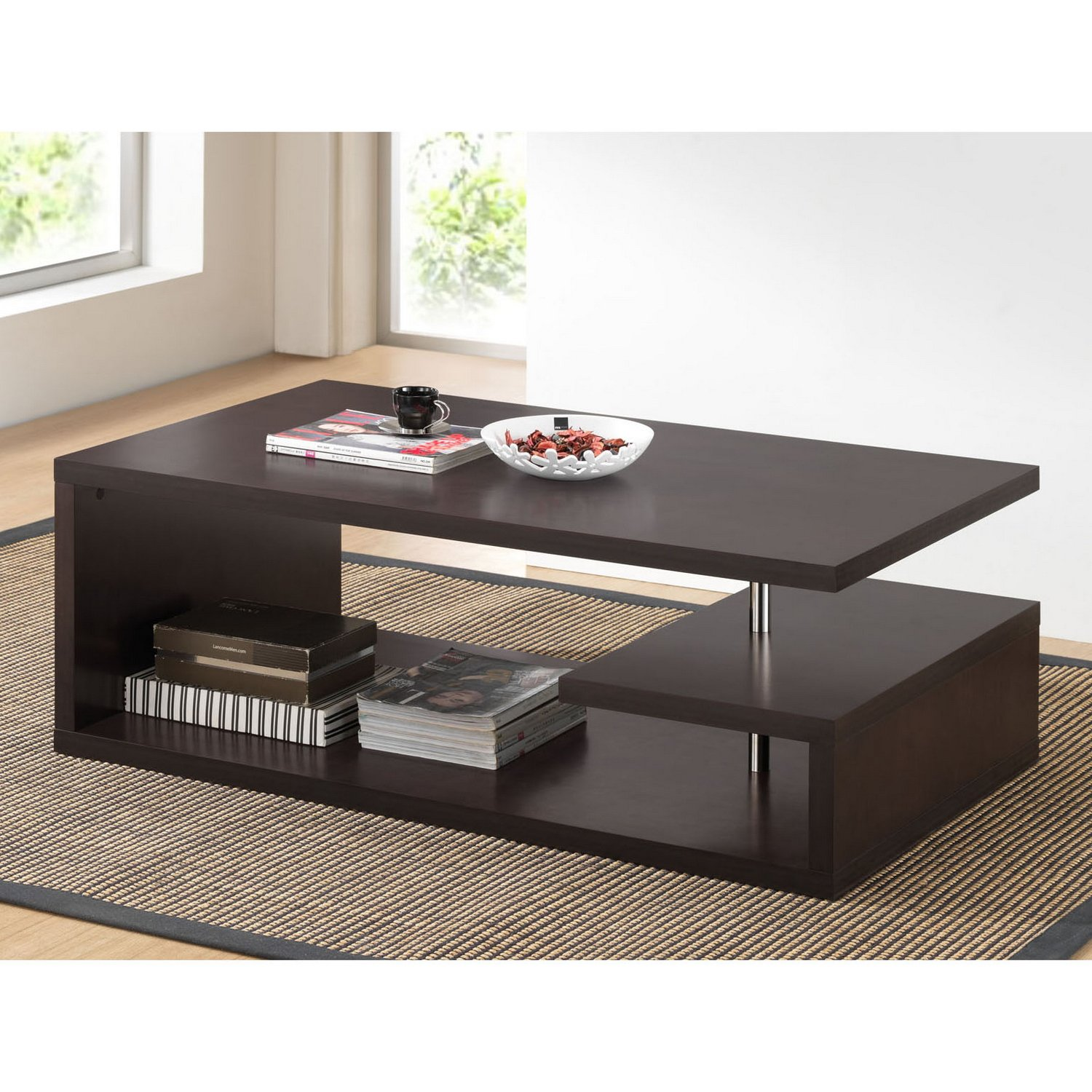 amazoncom baxton studio lindy modern coffee table dark brown kitchen dining. amazoncom baxton studio lindy modern coffee table dark brown