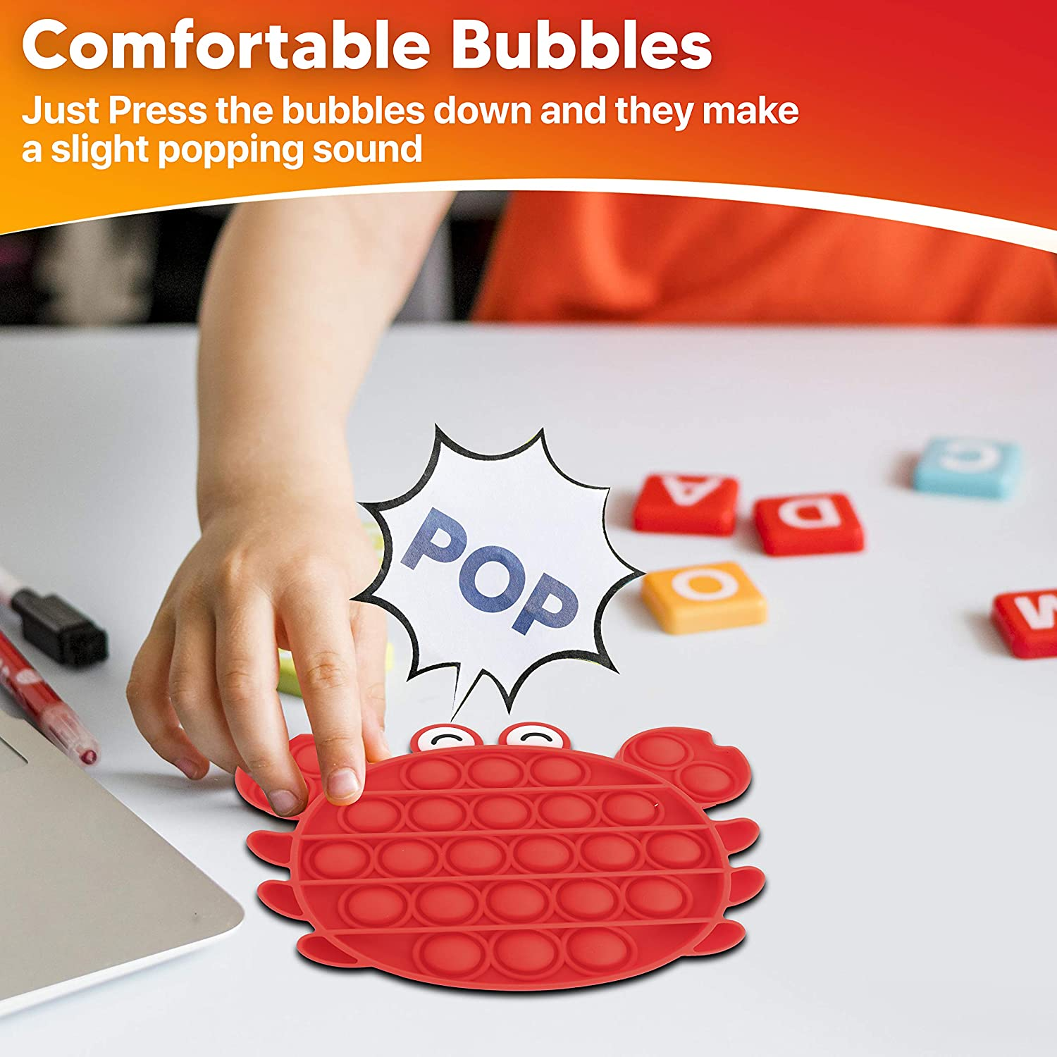 3pcs Bubble Sensory Toy Set for Kids and Adults Lobster Crab Fidget Toy for Relaxation and Stress Relief Octopus Soft Silicone Sensory Fidget Toys Engagenest Fidget Toys