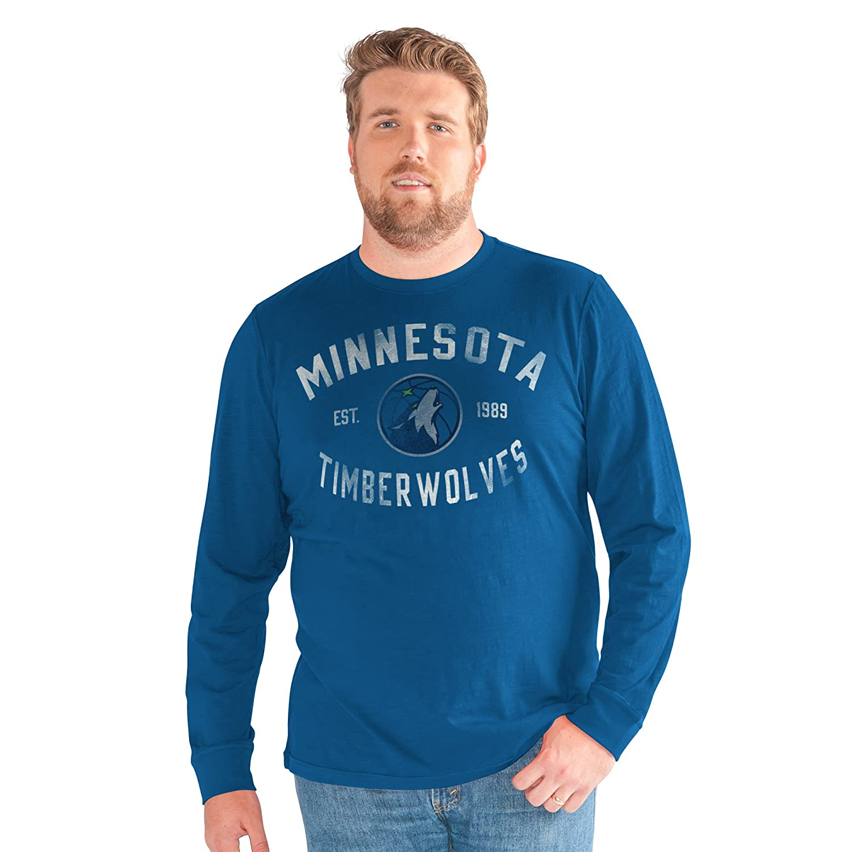 G-III Sports NBA Minnesota Timberwolves Adult Men Big Man Bank Shot Long Sleeve Top Blue 3X