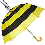 Kidorable Yellow Bee Umbrella With Fun Pop-Out Wings, Big Smile, Antennae