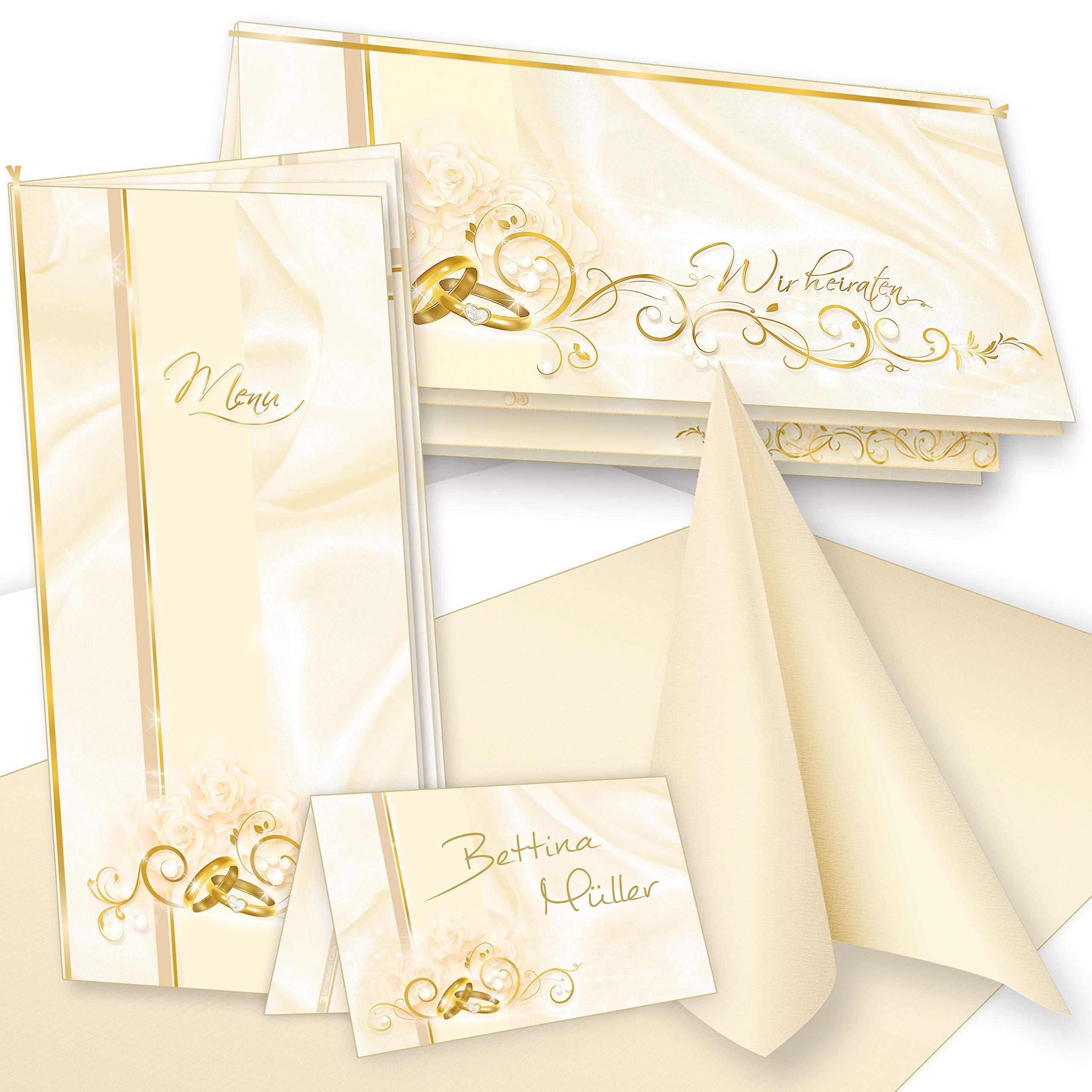 Briefumschl/äge 10 Sets TATMOTIVE Lila Herzen Einladungskarten f/ür Hochzeit Selbst bedruckbar