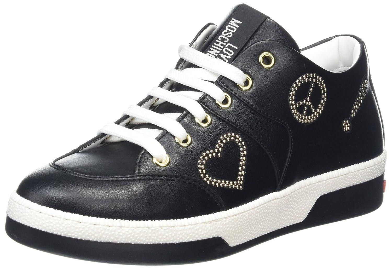 Love Moschino Scarpad.love30 Vitello PU Nero, Zapatillas para Mujer 41 EU|Negro (Black)
