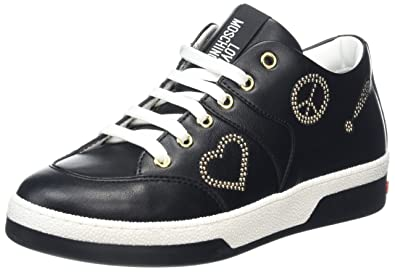 Love Moschino Scarpad.love30 Vitello PU Nero, Zapatillas para Mujer, Negro (Black), 37 EU