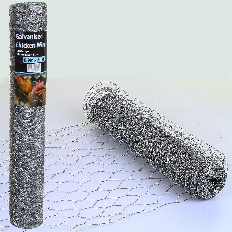 Marko Fencing Chicken Wire Mesh Fencing Rolls Netting Garden Outdoor ...