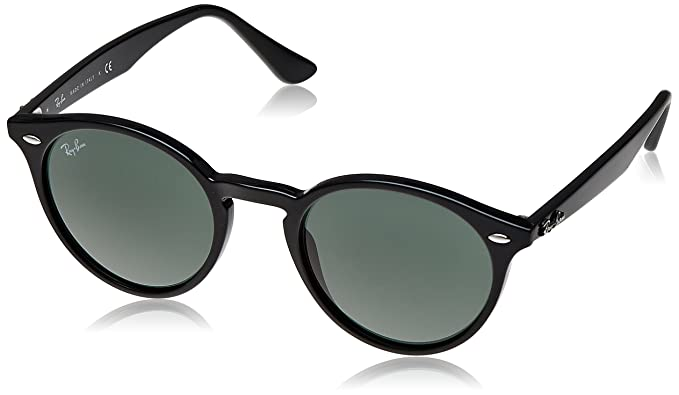 7bd833655e61c Image Unavailable. Image not available for. Colour  Ray-Ban Round Sunglasses  (Polished Black) (RB2180