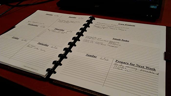 picture about Discbound Planner Printables called : Disc Certain Weekly Planner Internet pages - Priorities