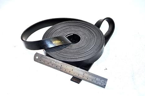 Gummileiste 40 mm breit x 5 mm dick x 5 M lang Neopren massiv aus schwarzem Gummi