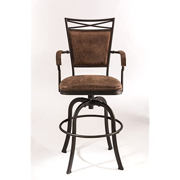 Hillsdale 5759-830 Bridgetown Swivel Tilt Barstool, Aged Bronze Finish