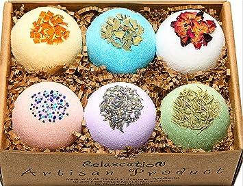 bath bombs. Relaxcation Bath Bombs Gift Set All Natural  Organic Moisturizing Safe for Kids Amazon com