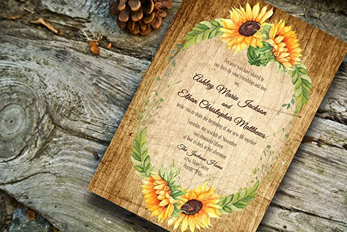 Amazon Fall Wedding invitationsSunflower Wedding Invitations – Wedding Invitations Sunflower